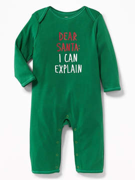 Old Navy Holiday Graphic One-Piece for Baby