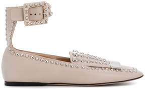 Sergio Rossi studded buckle flats