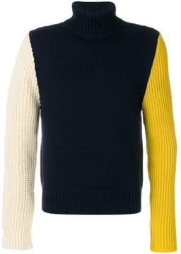 Calvin Klein colourblock high neck jumper