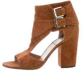 Laurence Dacade Peep-Toe Cutout Ankle Boots