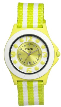 Crayo Carnival Lime and White Lime Stainless Steel Ladies Watch