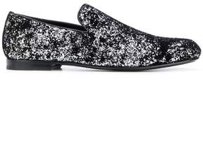 Jimmy Choo Sloane glittered slippers
