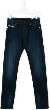 Diesel Teen faded effect denim jeans