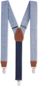 Club Room Men's Blue Chambray Suspenders, Created for Macy's