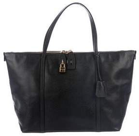 Dolce & Gabbana Leather Shopper Tote
