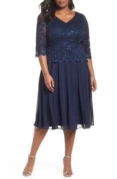 Alex Evenings V-Neck Lace Dress
