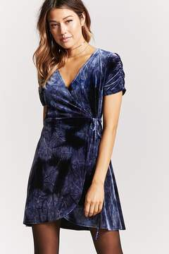 Forever 21 Crushed Velvet Wrap Dress