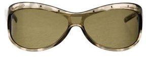Bottega Veneta Translucent Shield Sunglasses