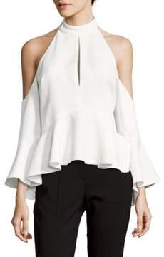 C/Meo Halterneck Cold-Shoulder Top