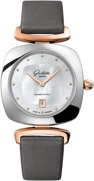 Mother of Pearl Glashutte Pavonina White Dial Ladies Watch
