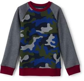 Lands' End Lands'end Boys Printed Crewneck Sweatshirt