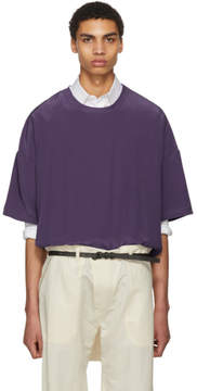 Haider Ackermann Purple Silk Oversized T-Shirt