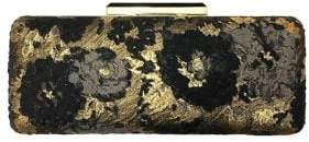 Sondra Roberts Satin Floral Brocade Box Clutch