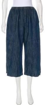 eskandar Linen-Blend High-Rise Culottes