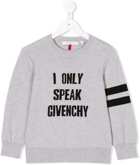 Givenchy Kids slogan design sweater