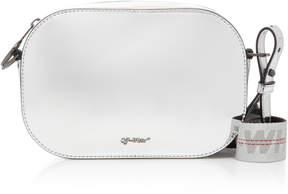 Off-White Metallic Patent-Leather Belt Bag