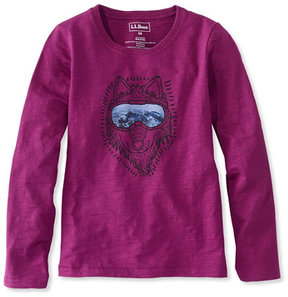 L.L. Bean Girls' Graphic Tee, Long-Sleeve