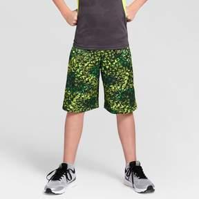 Champion Boys' Printed Lacrosse Shorts Green Print
