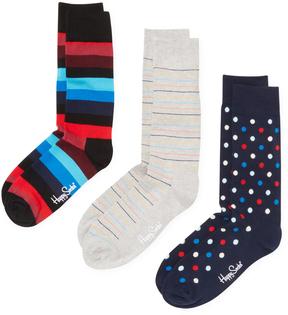 Happy Socks Men's Stripes & Dot Socks (3 PK) - Size 10-13