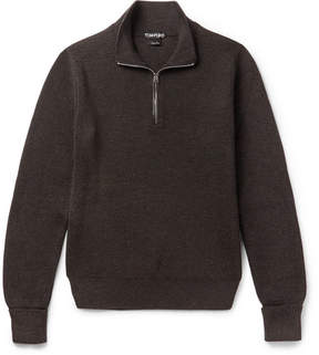 Tom Ford Ribbed Wool Half-Zip Sweater