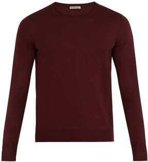 Bottega Veneta Intrecciato-embroidered wool sweater