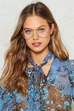 Nasty Gal nastygal Clear for Take Off Aviator Glasses