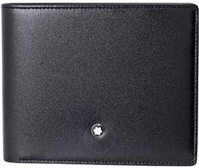 Montblanc 6CC Black Leather Wallet