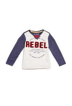 GUESS Long-Sleeve Rebel Tee (2-7)