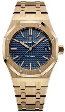 Audemars Piguet Royal Oak Blue Dial 18 Carat Yellow Gold Automatic Men's Watch