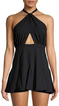 6 Shore Road Women's Halter Cut-Out Mini Dress
