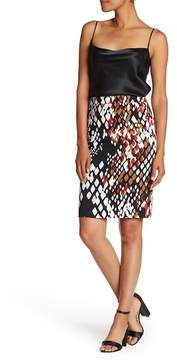 BOSS Vilea 1 Abstract Print Pencil Skirt