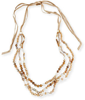 Chan Luu Three-Strand Beaded Necklace