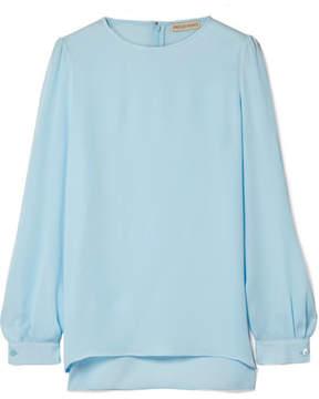Emilio Pucci Silk-chiffon Blouse - Sky blue