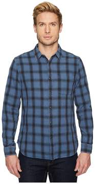 AG Adriano Goldschmied Colton Long Sleeve Washed Plaid Shirt in 15 Years Faded Pacific Coast/Black Men's Clothing