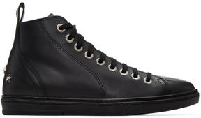 Jimmy Choo Black Star Colt High-Top Sneakers
