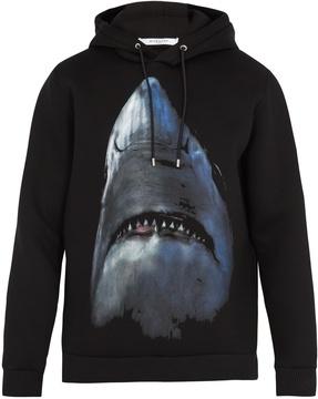 GIVENCHY Shark-print hooded sweatshirt