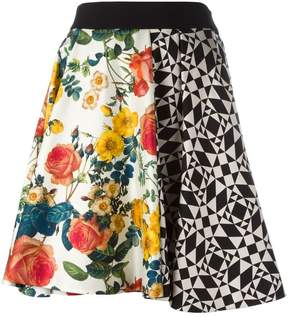 Fausto Puglisi Gonna Geometrica Fiori skirt