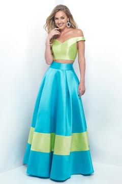 Blush Lingerie Vibrant Off-Shoulder Sleek A-Line Gown 5620