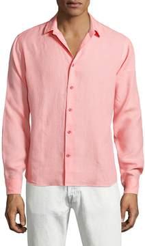 Orlebar Brown Men's Malone Linen Sportshirt
