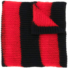 McQ Brushed stripe scarf