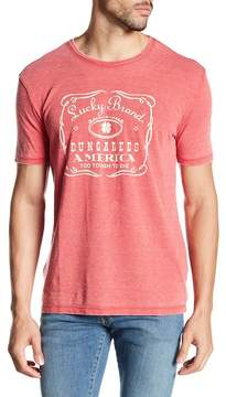 Lucky Brand Whiskey Label Graphic Tee