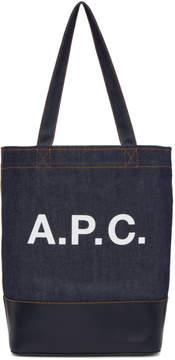 A.P.C. Navy Denim Axel Tote