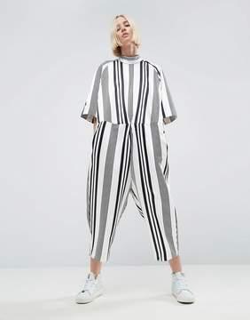 Asos Ovoid Jumpsuit In Stripe