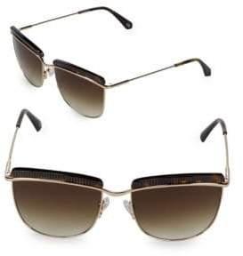 Balmain 56MM Tortoise Sunglasses