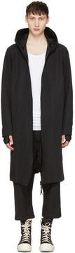 11 By Boris Bidjan Saberi Black Scarf Coat