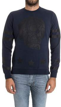 Hydrogen Men's Blue Cotton Sweatshirt.