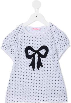 Familiar polka dot and bow print T-shirt