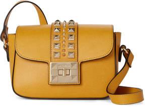 Mario Valentino Valentino By Yellow Yasmine Studded Leather Crossbody
