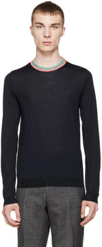 Paul Smith Navy Merino Sweater