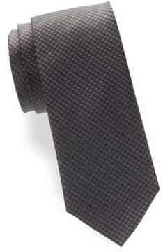 Black & Brown Black Brown Houndstooth Silk Tie
